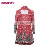 2017 Long Sleeve Women Paisley Ethnic Print Floral Print Tunic