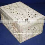 Natural Soapstone Carved Boxes