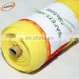 100% HDPE knitting yellow safety warning net/safety warning cloth fabric