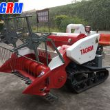 Cheapest price and good quality mini paddy rice combine harvester / rice reaper working in wet field