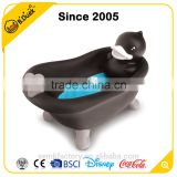 Wholesale cheap fancy black duck shape soap dish holder