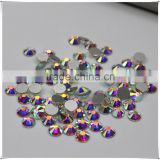 Top Quality Nail Art rhinestones crystal AB clour silver flatback non hotfix rhinestone for DIY Nails decoration