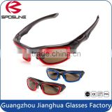 Blue and red full frame fishing driving polarized TAC mens sunglasses