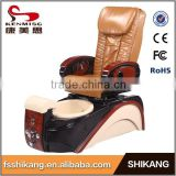 2016 real leather luxury pedicure chair foot spa/pipeless whirlpool spa pedicure chair