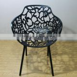 replica Designer Outdoor chairs Aluminum graceful black color Janus et Cie Forest Armchair for outdoor garden