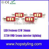 Super bright LED Festoon C5W 36mm 5730 SMD Xenon interior lighting,led festoon light,3014/3528/5050/5730 smd led light