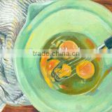 Beat the egg in the plate egg beater blue rag sitting room decoration oil painting in canvas