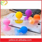 The girl's favorite!Colorful rubber vacuum cup mini ball design holder for pad /cellphone