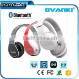2016 High quality cheap price BT513 folding stereo bluetooth headset, OEM brand wireless bluetooth headphone free samples                                                                                                         Supplier's Choice