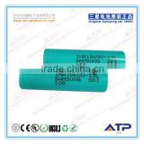 High density 18A dischage cell 18650 li ion battery 3.6V 1300mah / samsung rechargeable battery
