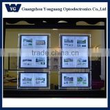 YG Hanging LED Crystal Light Box, LED Light Pocket with Clear Edge acrylic frames photo led light box