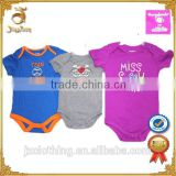 2015 Baby Summer Apparel Stocklot Animais Baby Bodysuit Closeout