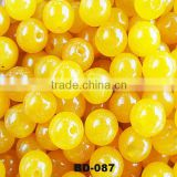 Pretty Fashion Natual Miscellaneous Stone Yellow Jade Round Beads For DIY Jewelry Wholesale