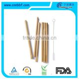 Eco friendly customized biodegradable reusable primary bamboo straws                                                                         Quality Choice