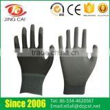 Flexible Comfortable Knitting Cuffs Grey Wholesale PU Coated Gloves                                                                         Quality Choice