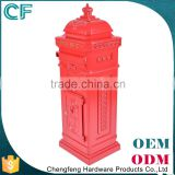 The Most Popular Style In Europe Cast Aluminiun Standing Garden Antique Letter Boxes From China