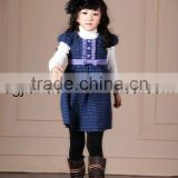 New design warm woolen winter baby clothes dresses 2012