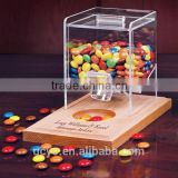 Hot Sell Transparent Acrylic Candy Dispenser Box/Box Candy/Glass Candy Box                                                                         Quality Choice