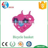 KID's most favorable lovely heart shaped bike basket