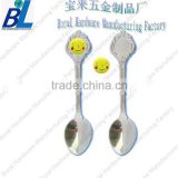 Baby stainless steel spoon with rubber patch