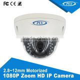 2 megapixel zoom ip dome camera specification with varifocal lens, audio input and output