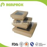 Food grade kraft paper salad box with seperate lid                                                                         Quality Choice