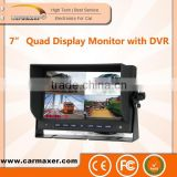 New style high quality New Style auto recording 7 inch Monitor Reversing car blackbox dvr with GPS