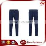 high quality women cheap slim long blue stretch pencil jeans middle waist jeans