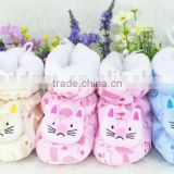 plush baby shoes /baby plush animal shape shoes and socks