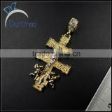 cheap alloy hip hop custom cross pendants made jewelry