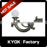 KYOK 22mm Hidden hooks simply add lining to curtains rod hooks,polished metal hooks good quality curtain rod accessory