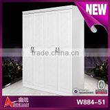 W884-51 New style wooden portable armoire wardrobe closet bedroom closet wood wardrobe cabinets