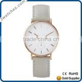 Fashion luxury charm rose gold&light grey women watch stainless steel watch Japan movement watch small second dial watch