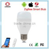 Android IOS System Intelligent Home indoor lighting Smart Rgb Led Light Bulb 6W Color changing Music control