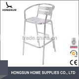 Round back Bar chair cast aluminum outdoor furniture