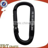 cheap Black D Shaped Aluminum Alloy Snap Clip aluminum carabiner keychain