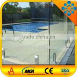 swimming glass pool fence/fencing spigot/outdoor frameless 12mm tempered glass pool fence
