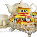 Best Brand Biscuit LIPO 300g Cream Egg Cookies with Low fat for Malaysia, Indonesia, China, Thailand, Taiwan, Hong Kong