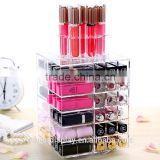 beautiful clear rotating acrylic lipstick holder,acrylic lipstick organizer,acrylic spinning lipstick tower manufacturer