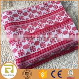 Wholesale 100% Acrylic knit red Christmas snow flake throw blanket