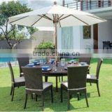 "VSH-PF428-430	""Dining set (6 arm chairs + 1 table + 1 umbrella)"" VSH-PF428	""Arm chair with water resistant cushion"""