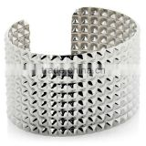 "2013 New Products Stately Steel Bold Stud 7-3/4"" Cuff Bracelet Jewelry Manufacturer"