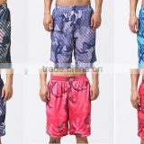 Wholesale Sublimation Summer Men Beach Board Loose Shorts Custom Printed Mesh Quick Dry 100% Polyester Baseball Softball Shorts
