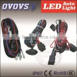 OVOVS Wire Harness for light , 1 wire control 4 led light bar /led work light ,over 300W