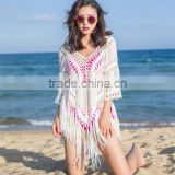 Women Cloak Swimwear Bikini Cover Up Hollow Crochet Beach Dress Top Blouse New