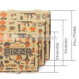 Food Grade Custom Pizza Box Kraft Box Pizza delivery box