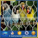 aviary /zoo bird cage fence with wire steel rope mesh
