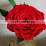 Giant Crepe Paper Rose, Large Cardinal Red Rose, Valentine Rose, Large Wedding Rose, Large Velvet Red Paper Flower