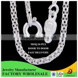 ATHENAA Mesh Chains Men White Gold Necklace 1.5MM 45CM New Style Jewelry Trendy Necklaces For Men