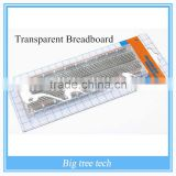 Solderless Solder Less Clear Transparent Breadboard Tie-Point Tiepoint 830 holes A109